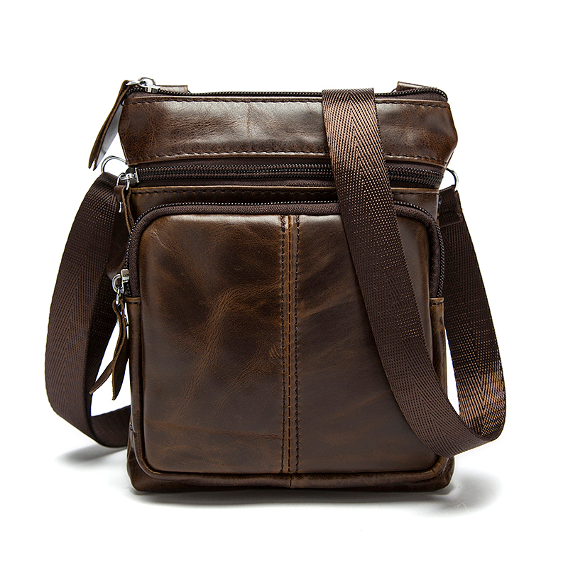 Bags Messenger-Bag Crossbody-Bags Shoulder Small Male Men Flap Man for Natural Men's title=