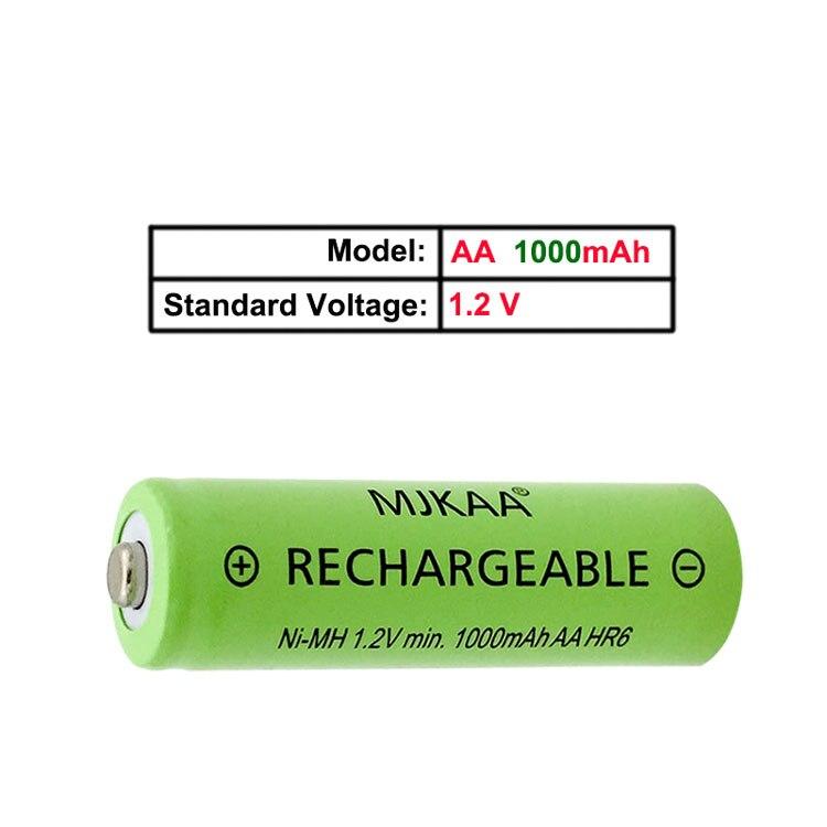20PCS AA Rechargeable Battery High Performance 1.2V Ni-MH AA Batteries Min 1000mah