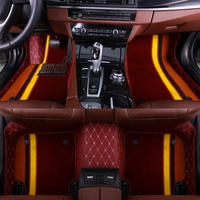 Car floor mats made for Hyundai Santa Fe 5D perfect fit anti skid case heavy duty car styling carpet rugs liners (2007 )