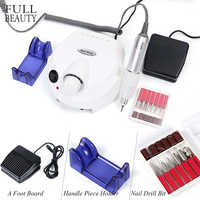 30000RPM Electric Nail Machine Sets for Manicure Equipment Remove Gel Mills Cutter Nail Art Tool With 6 Bits CHDR401-1