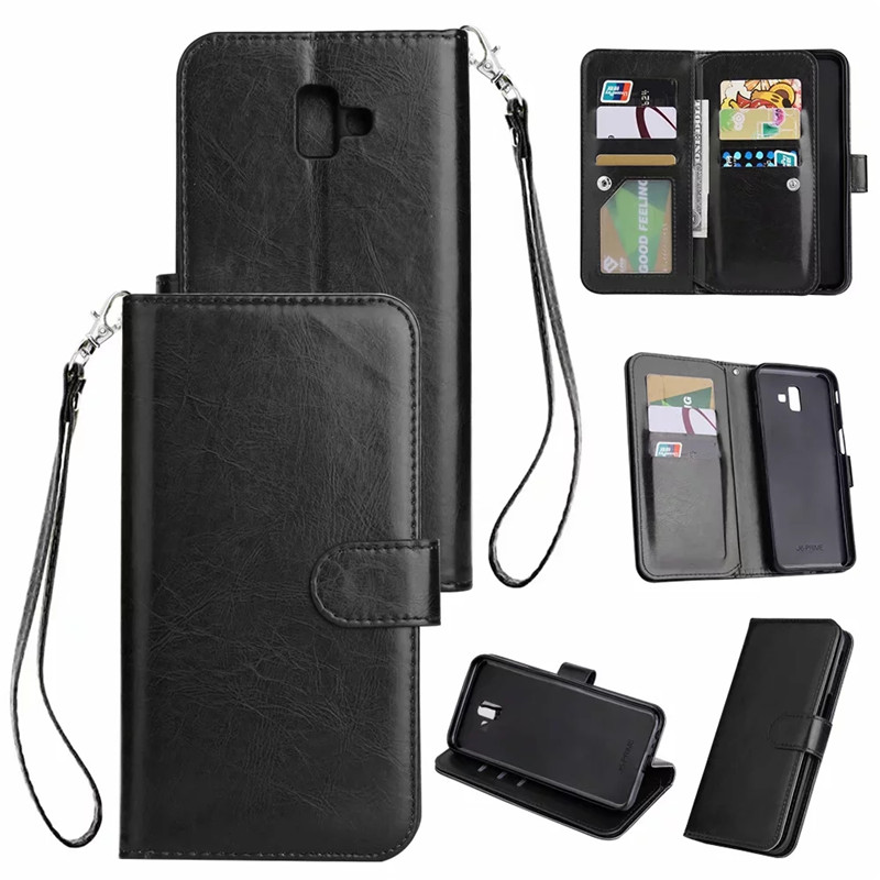 <font><b>Leather</b></font> <font><b>Case</b></font> For <font><b>Samsung</b></font> Galaxy S10 S9 S8 Plus S7 Edge Note 9 8 J3 J4 J5 <font><b>J6</b></font> J7 J8 2018 Flip <font><b>Case</b></font> Card Wallet Cover Magnet <font><b>Cases</b></font> image