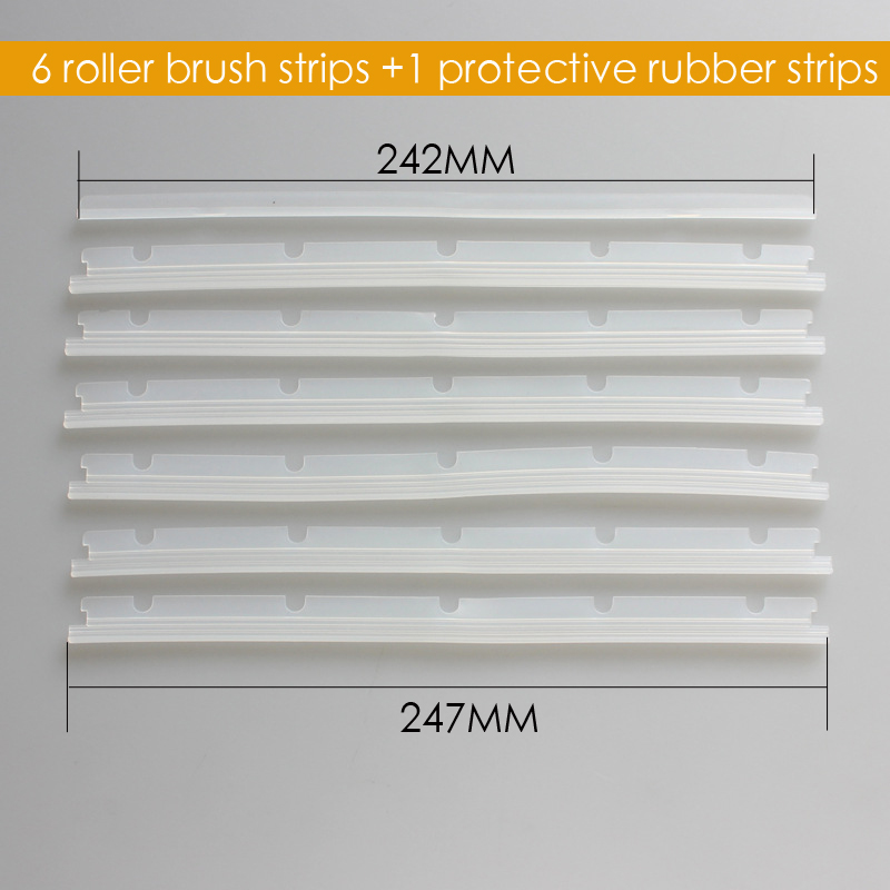 7pcs/lot 6 Blades+1 Squeegee Replacement For Neato Brush Neato XV-21 XV-15 XV-11 XV-12 XV-14 For Vacuum Cleaner Accessory Parts neato spiral blade brush 6 piece brush blade and 1piece squeegee replacement pack xv 11 xv 12 xv 14 xv 15 xv 21