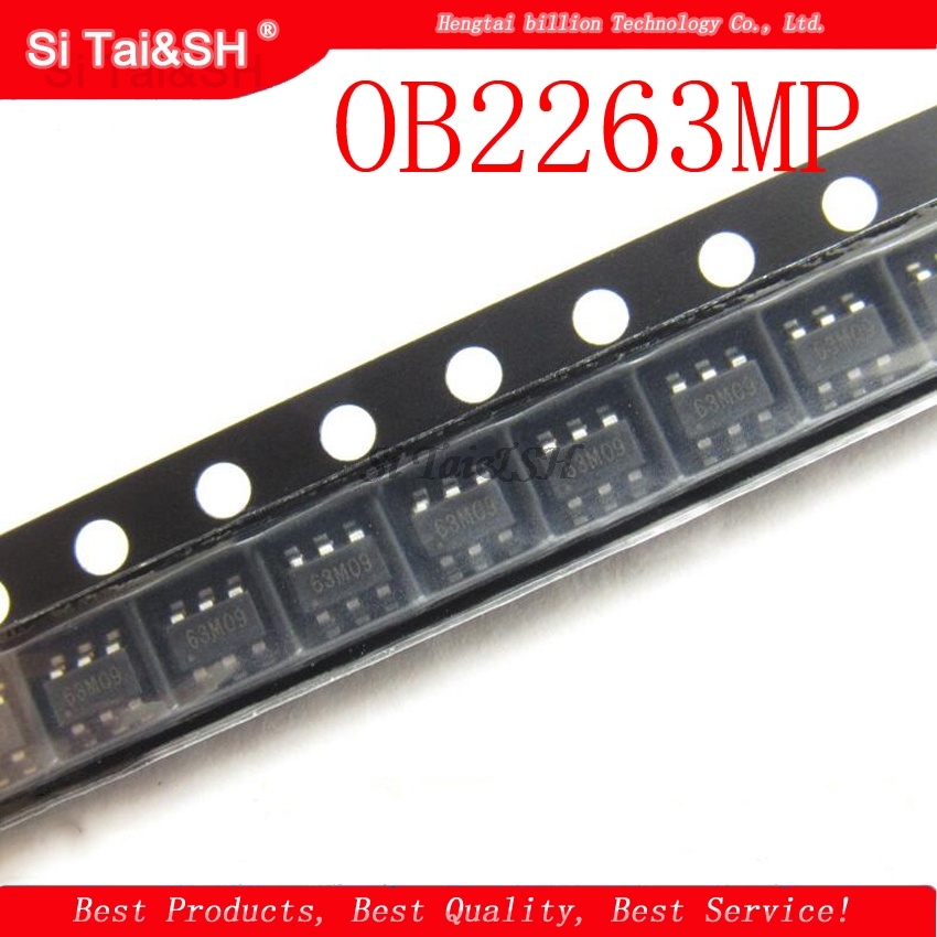 10PCS  OB2263MP OB2263 Chip Type: 63A SOT23-6 Current Mode PWM Controlle 100% New Original