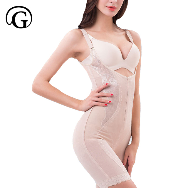 4791f1f36c PRAYGER PLUS Size 5XL Women Slimming Full Body Shaper lift breast Shapewear  waist control butt lift Underwear Zipper Bodysuits