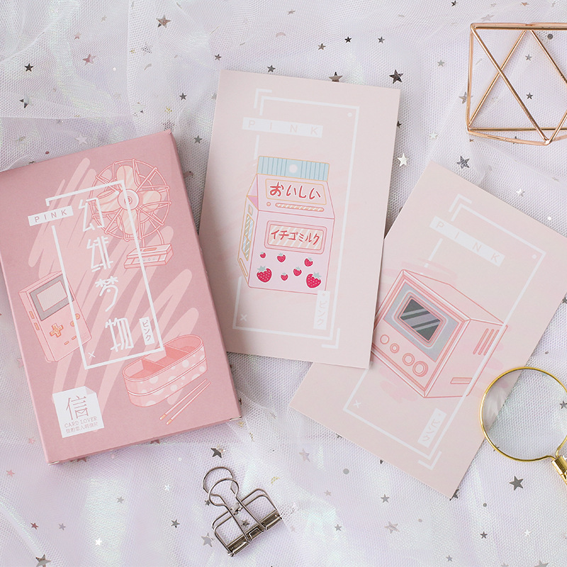 30 Pcs/Set Kawaii Pink Fantasy Dream Postcard /Greeting Card/Message Card/Christmas And New Year Gift