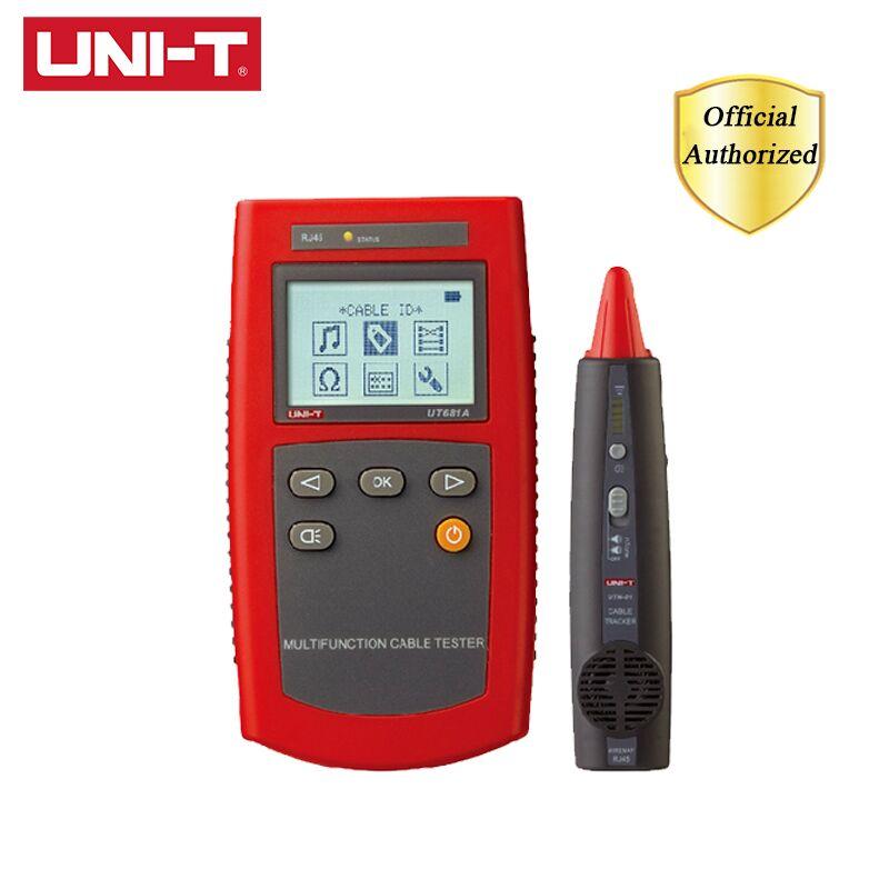 UNI-T UT681A Multi-Função Localizador de Cabo Conjunto Rede Cable Tester Tester RJ45 RJ11 Fio Locator Detector Instrumento Caça