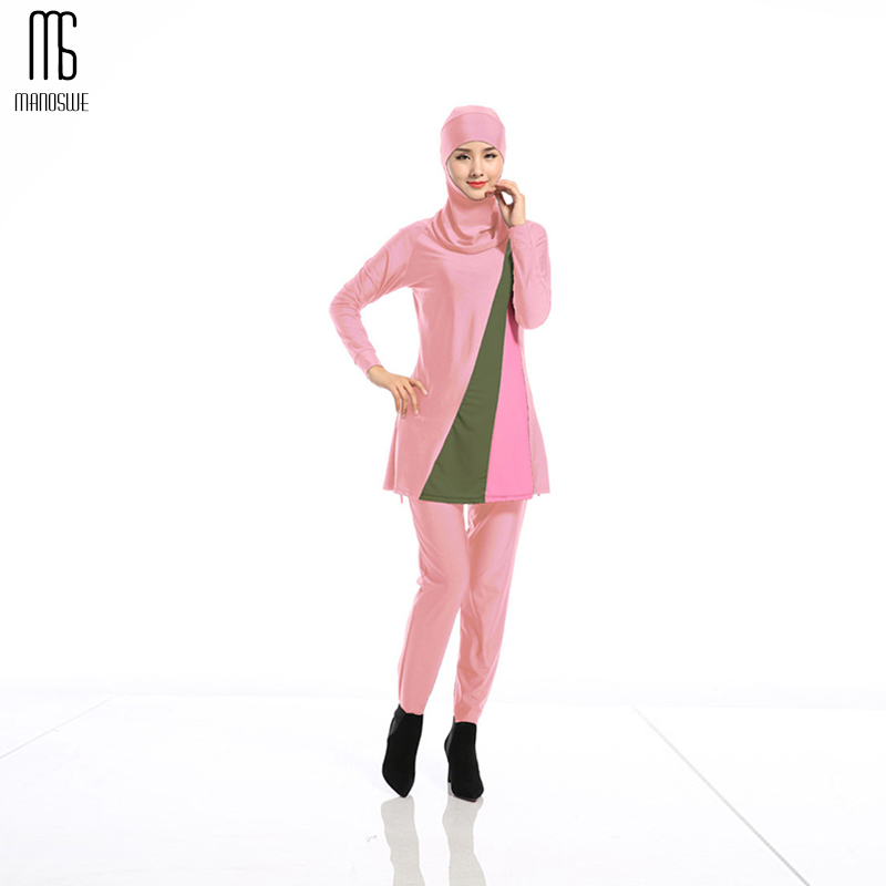 Manoswe Middle East Islamic Muslim Traditional Hijab Full Cover Costume Fashion Pattern Geometric Burkinis Swimsuit For Lady-in Muslim Swimwear from Sports & Entertainment on AliExpress - 11.11_Double 11_Singles' Day 1
