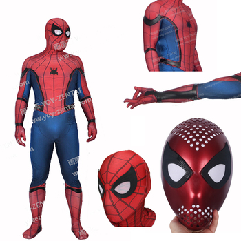 Moviecoser Best Quality 3d Print Civil War Spider Man Costume With