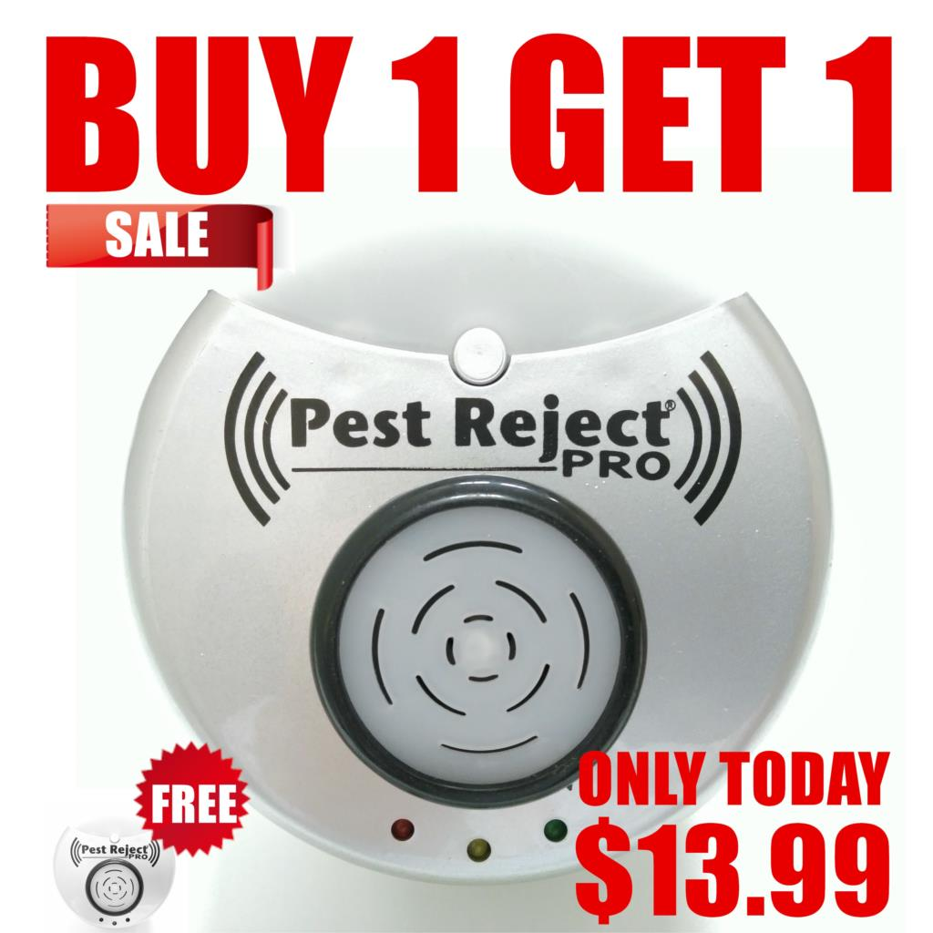 BUY 1 GET 1 Strong 300 Square Meters Coverage Pest Reject Pro Anti Insect Ultrasonic Pest Repeller Mosquito Rat Fly Killer