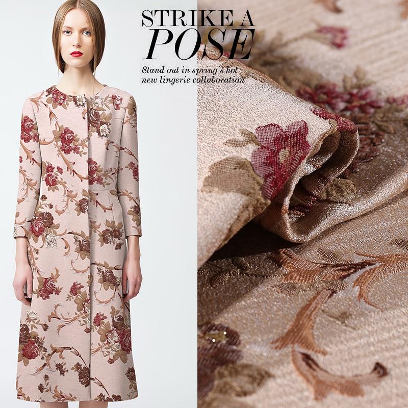 Tissu en trois dimensions jacquard brocart robe élégante tapisserie tissu satin dames tempérament tissu jacquard