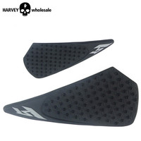 Motorcycle Tank Traction Pad Side Gas Knee Grip Protector Anti Slip Sticker Black Color For Yamaha