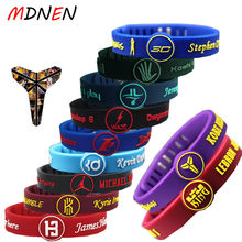 Mdnen Basketball Star Fashion Simple Silicone Thicken Adjule Wrist Strap Sports Fitness Bracelet Wristban Sl320 1