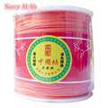 Orange Red 1MM 100Yards/roll Satin Rattail Nylon Cords/String Kumihimo Macrame Rope Chinese Knot Cord DIY Jewelry Findings