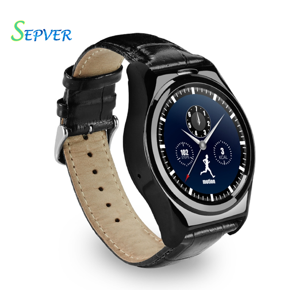Round metal S04 smart watch IPS touch screen heart rate monitor Pedometer remote camera smartwatch for