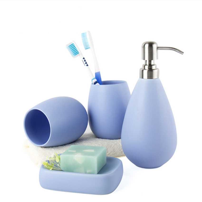 Decotalk Bathroom Set Water Drop Shape Ceramic Bathroom Accessories Sets 4 Pieces Set Supply Kits Gift Set 5 Colors Ceramic Bathroom Set Bathroom Setset Bathroom Aliexpress