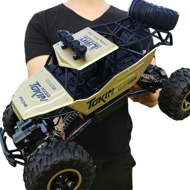 28 cm RC coche 1/16 4WD 4x4 coche motores dobles conducir Bigfoot coche de Control remoto modelo de coche -vehículo de juguete