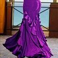 Новый ограниченной предлагаем большой маятник современный танец юбка черный/фиолетовый цветок Вальс танго Бальные Танцы Юбка настроить практика юбка