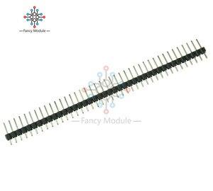 10 шт. Однорядный 40Pin 2,54 мм круглый прямой штырьковый коннектор