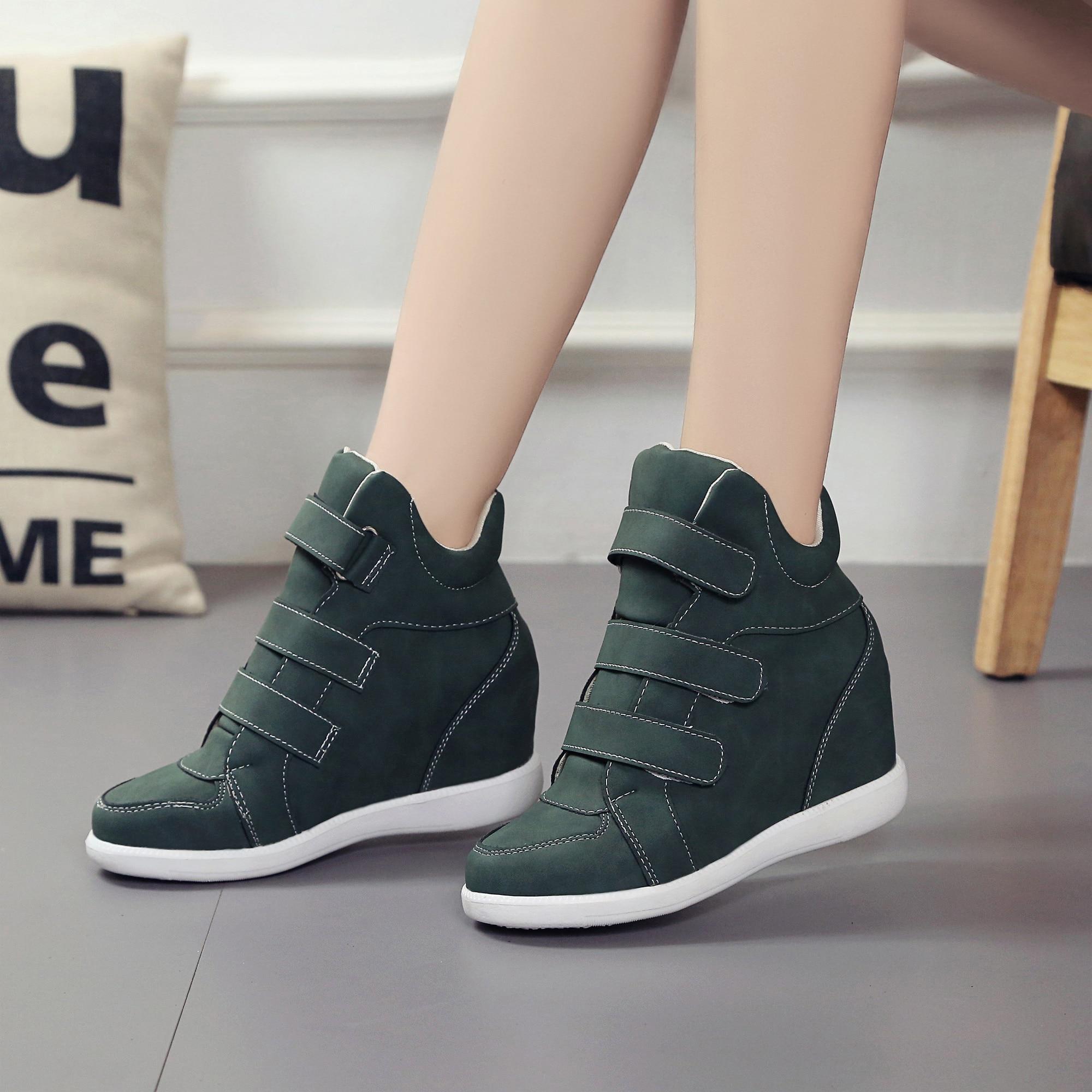 Lucyever mode plate-forme chaussures Femme bottines dissimulées compensées confort baskets Femme troupeau chaussures décontractées Chaussure Femme