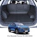 Für Hyundai Tucson TL 2015 2018 Auto Styling Auto Boot Mat Hinten Stamm Liner Cargo Floor Teppich Fach Schutz zubehör Matten      -