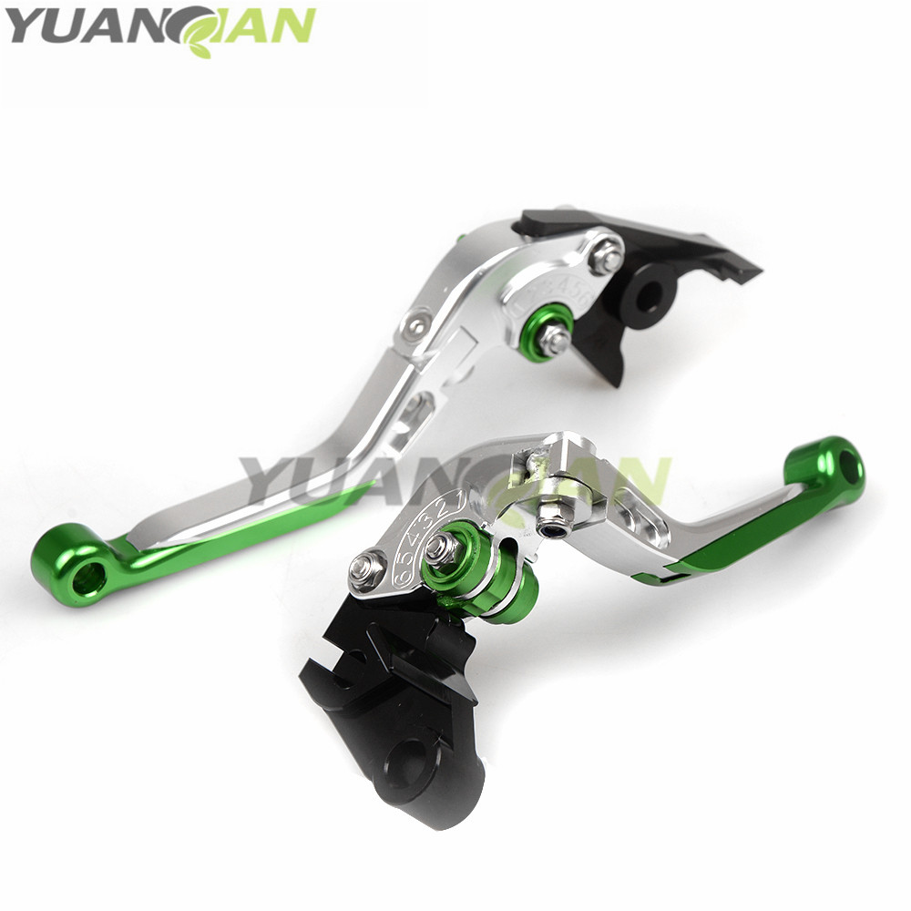 Green+Silver For Kawasaki Z650 Z 650 2017 CNC Adjustable Folding Extendable Motorcycle Brake Clutch Levers For Kawasaki Z900 650 3d printer parts tevo black widow titan step motor for titan extruder 3d printer extruder 42 42 23mm for j head bowden