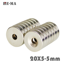 10Pcs Neodymium Magnet Ring 20x5mm With Hole 5mm Permanent N35 Small Round Super Strong Powerful Magnetic Magnets 20x5-5mm