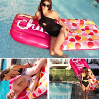 New Design Inflatable Chill Pill Pool Float Adults Kids Hottest Summer Outdoor Party Swim Pool Float Raft Relaxing Swimming Ring