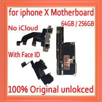 Factory unlocked for iphone X motherboard with / without Face ID,Free iCloud for iphone x Mainboard with IOS System Logic board