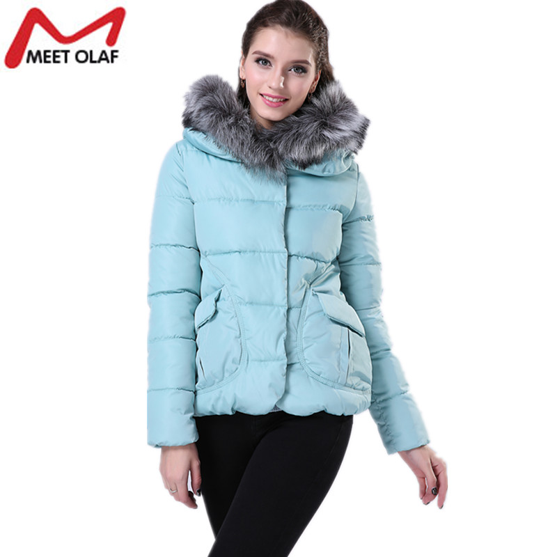 Women Winter Coat Wadded Jacket Long Sleeve Hooded Parka Overcoat Cotton Padded Coats and Jackets Especially Female Coat YL002