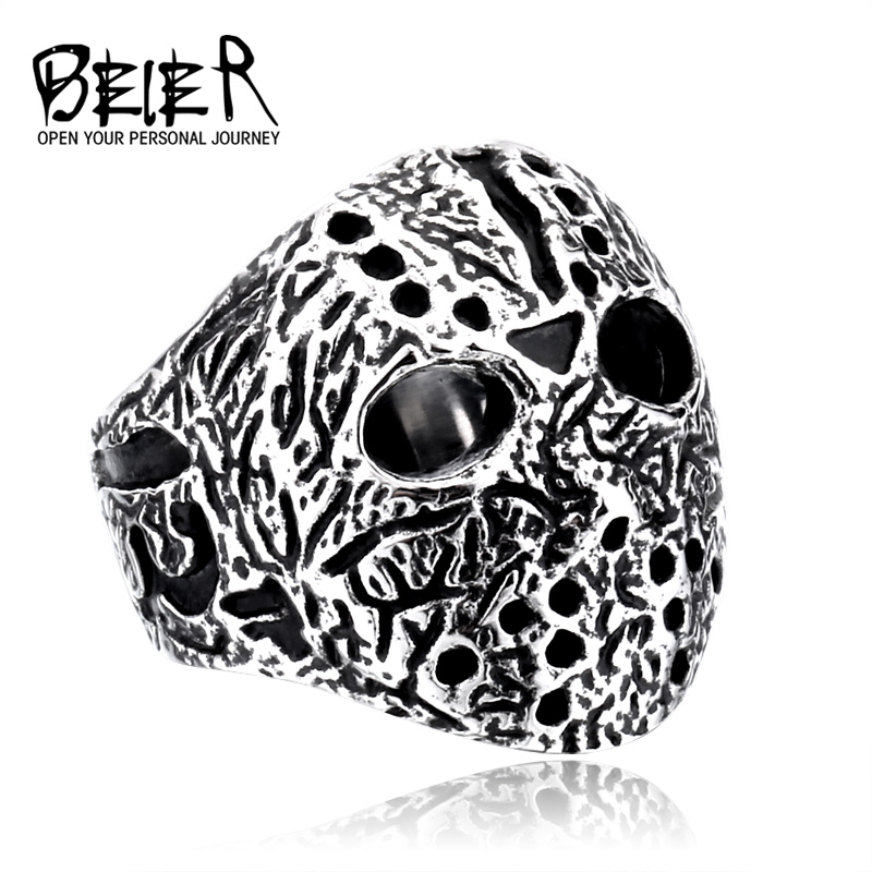Cheap Original Jason Mask Ring Jewelry For Men Stainless Personalized Ring Black Friday Jewelry BR8-192
