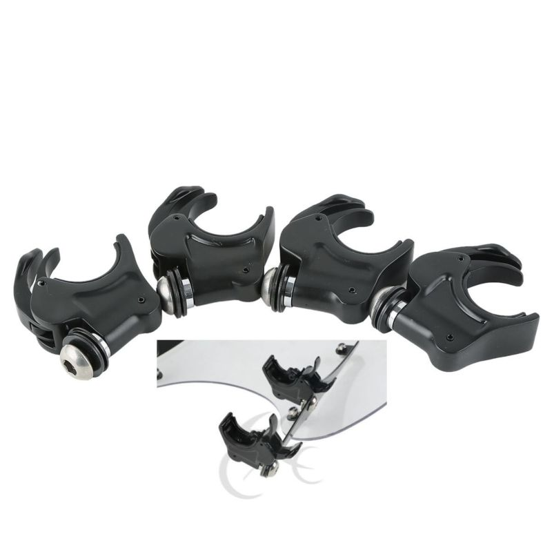 Motorcycle 4x Release Windscreen Clamps For Harley Sportster 883 1200 Dyna 39mmMotorcycle 4x Release Windscreen Clamps For Harley Sportster 883 1200 Dyna 39mm