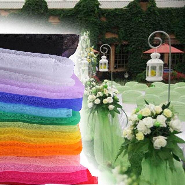 50cm 10yard Organza Fabric Ribbon Sheer Crystal Wedding Organza ...