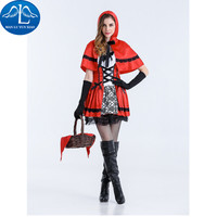 MANLUYUNXIAO Halloween Carnival Cosplay Costume Little Red Riding Hood Costume Performance Dance Show Costumes Wholesale