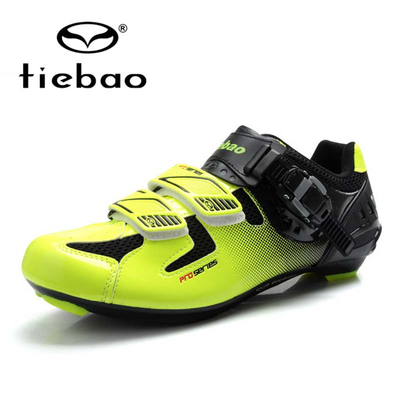 NEW Tiebao Professional Cycling Shoes Road Bike Shoes Athletic Bike Lock Shoes MAGIC TAPE Fastener Cycling
