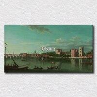 Nowoczesny wystrój domu sztuki nadmorskim mieście zdjęcia na ścianie salonu druk prezent dla przyjaciół 16 ''x 32''