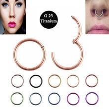 1 pc g23 titânio 16g nariz anéis segmento articulado anel septo clicker piercing nariz brinco tragus pircing nariz corpo jóias