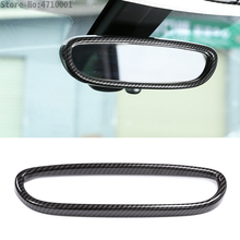 Carbon Fiber Interior Rearview Mirror Frame Cover Trim Car Accessories For BMW X1 F48 2016-2018 1 Series F20 2011-2015 велосипед specialized sirrus expert carbon x1 2016