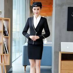 Модные женские юбочные костюмы черный блейзер и пиджак Наборы женские деловые костюмы офисная одежда стили