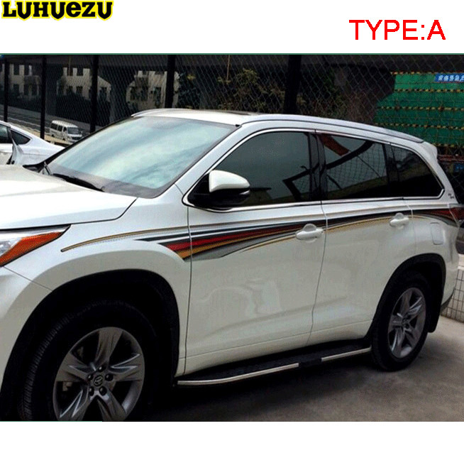 Luhuezu 3M Car Body Sticker For Toyota Highlander Kluger 2014-2017 Accessories