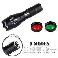 A100 3 светлый цвет магнит 350 люмен Масштабируемые Flashlignt фокус светодиодный тактический фонарь охотничий свет для 18650/AAA Батарея