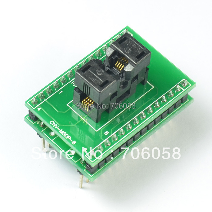 MSOP8 TO DIP8 IC Socket Programmer Adapter/Converter CNV-MSOP-8 Made in Japan import cnv msop 8 test socket adapter convert burn msop8 to dip8