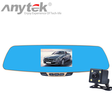 Original Anytek T6 or T6D Night Vision Car Dvr detector Camera Blue Review Mirror DVR Digital Video Recorder Auto FHD 1080P