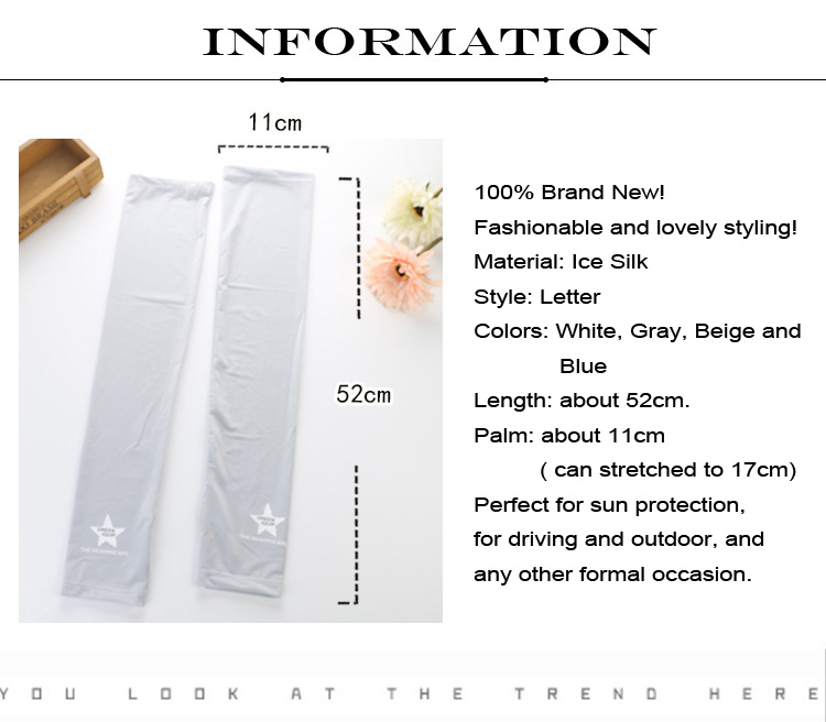 Ice Cool Sunscreen Arm Sleeve Half Finger Gloves Fingerless Arm Warmers Sun Protection Driving Mittens Cuff Anti-UV Long Gloves (11)