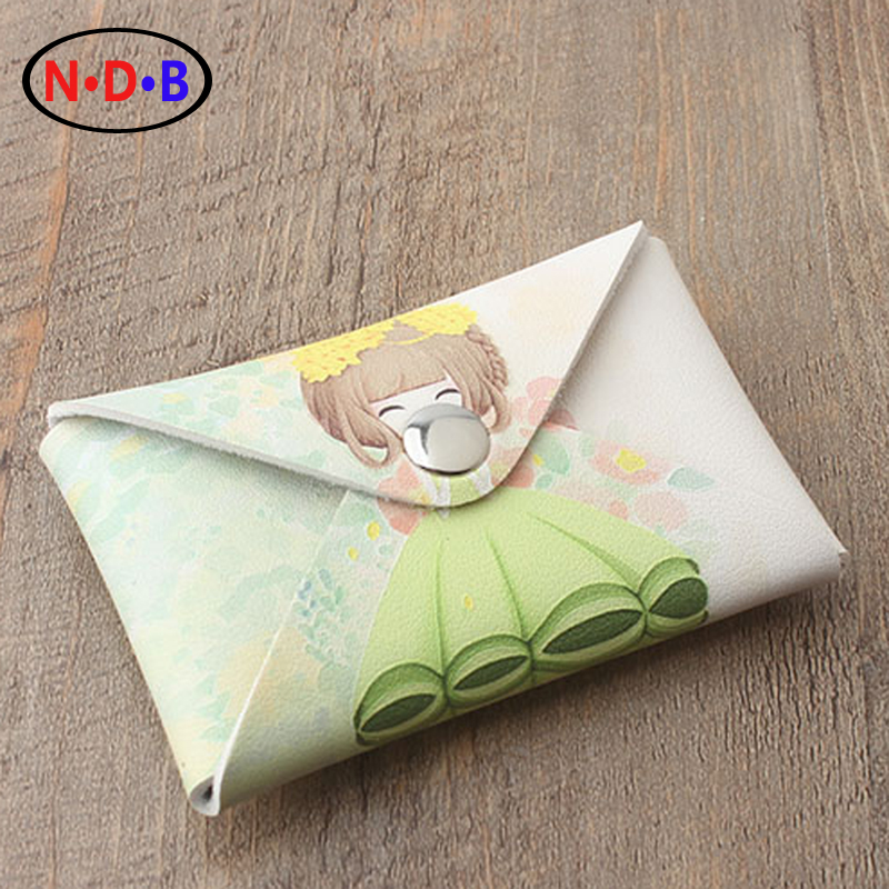 (Coin Purses)Korean version of the new lady short cartoon Wallet Purse flower girl student buckle series hand zero wallet HH1001 coin purses the movie aladdin and the magic lamp zero wallet metrosexual fashionista out coin purse bag lqb1046
