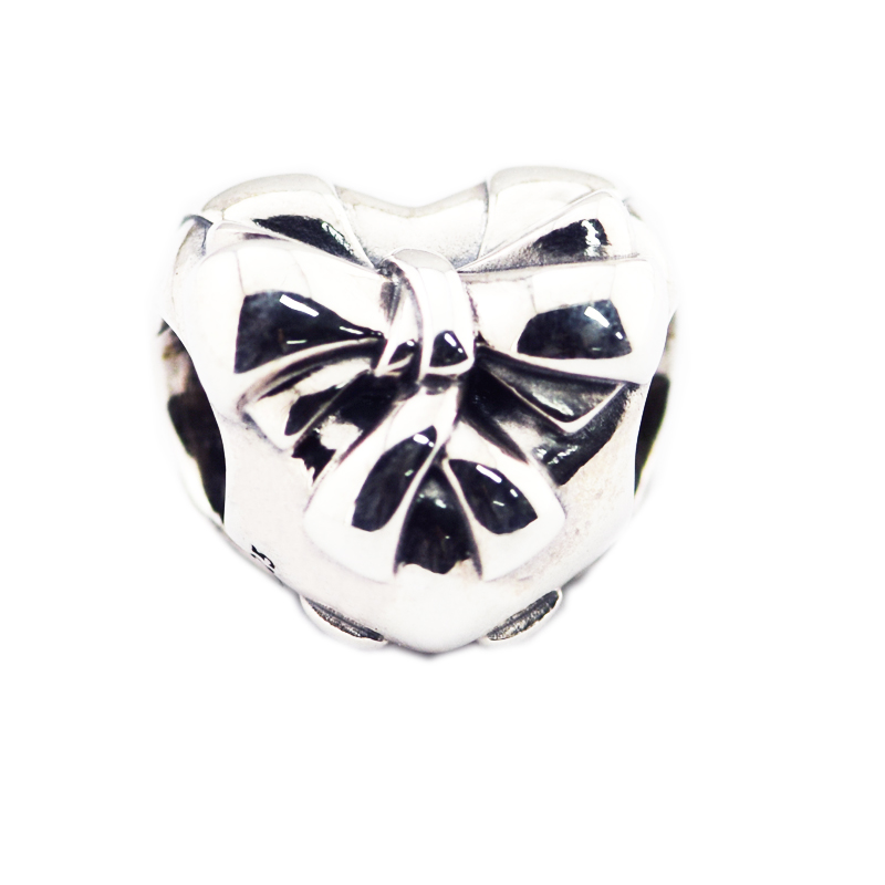 Black Bow Jewelry Sterling Silver I Heart USA Bead Charm