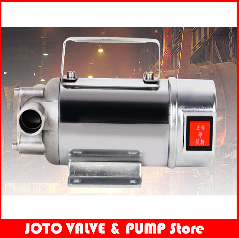 Stainless Steel Portable Self Suction Fuel Oil Pump цены