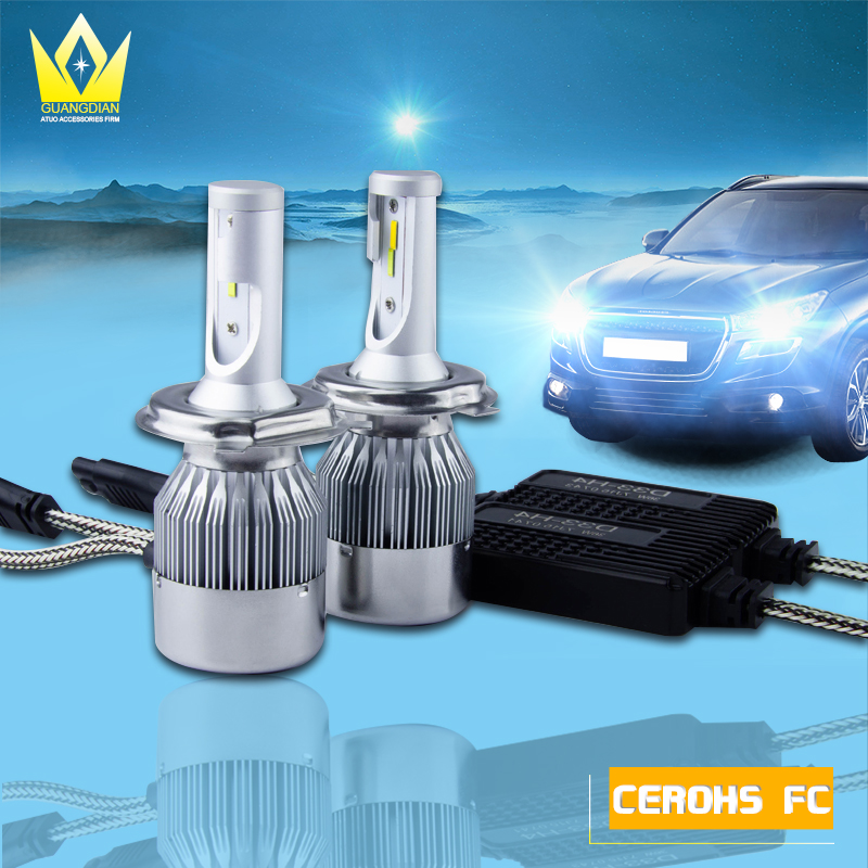 Tcart 2pcs Car LED Headlights D33 H4 Lighting Car Fog Lamps Error Free Canbus Auto LED Bulbs Hi/Lo Beam 12V 36W For Toyota Camry