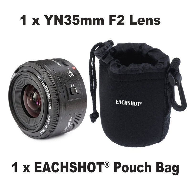 Original YONGNUO 35mm f2 Lens YN35mm Large Aperture Auto Focus Lens for Canon EOS 5D Mark III 450D 60D 7DII 6D DSLR Camera 35mm new canon eos 1200d dslr camera body with ef s 18 55mm f 3 5 5 6 iii lens black