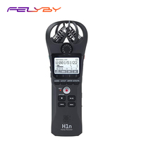 FELYBY H1n Handy Portable Digital Recorder Camera Audio Recorder Stereo Microphone for Interview SLR Recording Microphone Pen