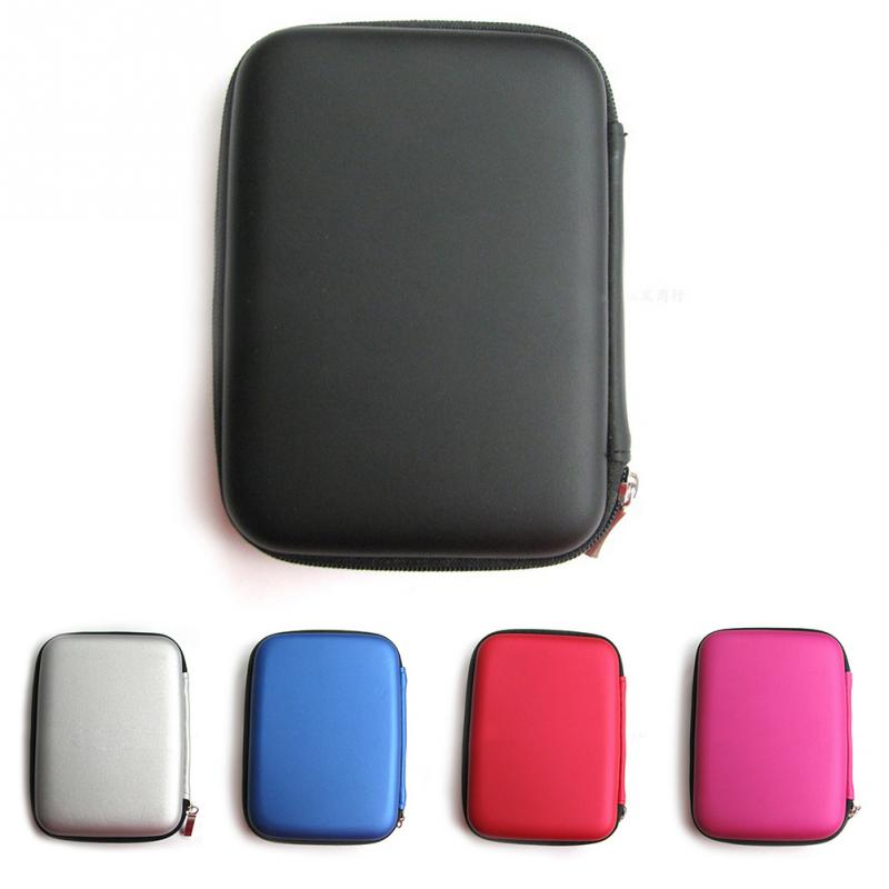 "Waterproof Leather Hand Carry hard Drive Enclosures Bag Case Cover Compartments for 2.5"" HDD Hard Disk,Mobile Power bank"
